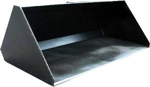 ковш для погрузчика простой с лезвием